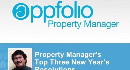 Property Managers 3 New Years Resolutions