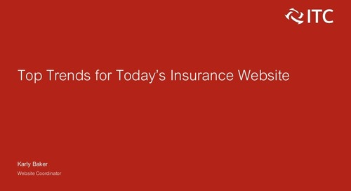 Top Trends for Today's Insurance Website
