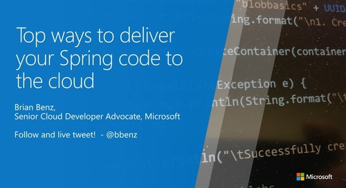 Top ways to deliver your Spring code to the cloud