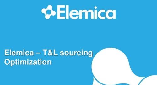 """reveal2014 EU Procurement Breakout – Michel Verberne, Elemica: """"T&L Sourcing Optimization"""""""