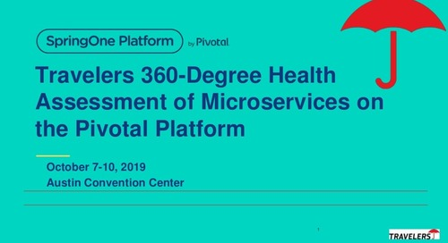 360-Degree Health Assessment of Microservices on Pivotal Platform