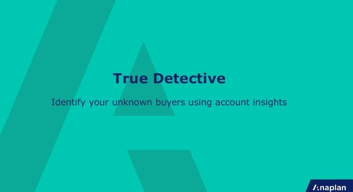 True detective: Identify your unknown buyers using account insights