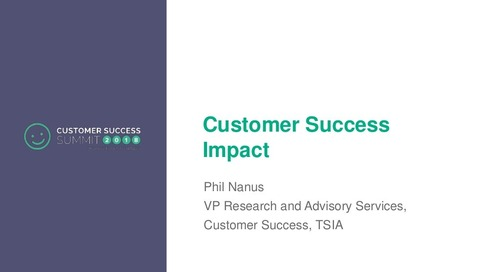 The Impact Your Company Should Be Making with Customer Success