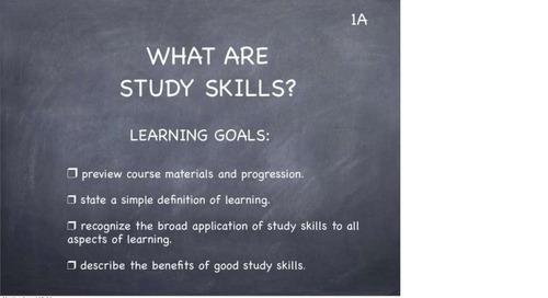 Study Skills Classroom Slides