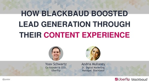How Blackbaud Boosted Lead Generation Through Their Content Experience (SiriusDecisions Summit)