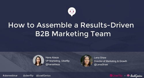 How to Assemble a Results-Driven B2B Marketing Team