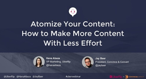 Atomize Your Content: How to Make More Content With Less Effort