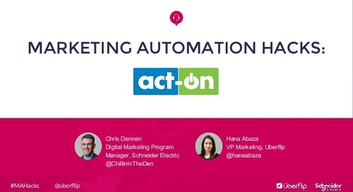 Marketing Automation Hacks: Act-On