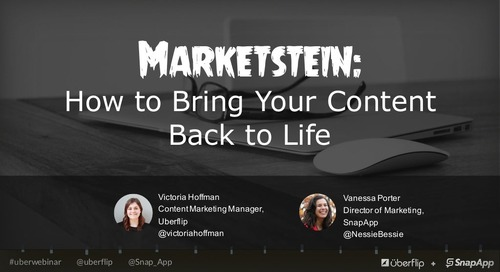 Marketstein: How to Bring Your Content Back to Life