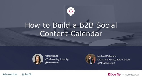 How to Build a B2B Social Content Calendar