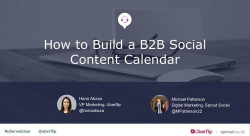 How to Build a B2B Social Content Calendar