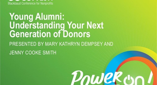 Understanding Young Alumni: Your Next Generation of Donors