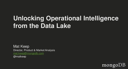 Webinar: Unlocking Operational Intelligence from the Data Lake