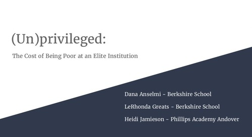 (Un)Privileged: The Cost of Being Poor at an Elite Institution