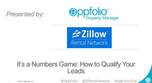AppFolio and Zillow Webinar - How to Qualify Your Leads