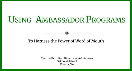 Using an Ambassador Program to Harness the Power of Word of Mouth