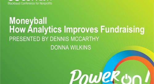 Using Analytics to Improve Fundraising