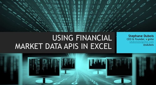 Using Market Data APIs in Microsoft Excel