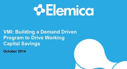 "reveal2014 Procurement Breakout – Omar Nadi, Elemica: ""VMI: Building a Foundation to Drive Working Capital Savings"""