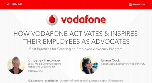 How Vodafone Activates & Inspires Their Employees as Advocates