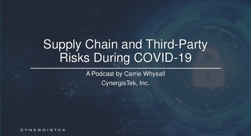 Supply Chain and Third-Party Risks During COVID-19