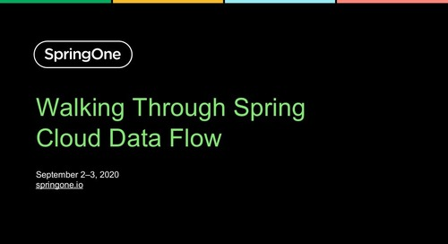 Walking Through Spring Cloud Data Flow