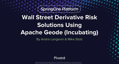 Wall Street Derivative Risk Solutions Using Geode