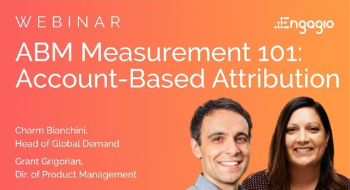 [Webinar] ABM Measurement 101:  Account-Based Attribution | Slides