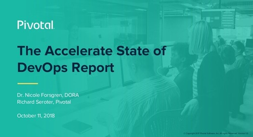 The Accelerate State of DevOps Report