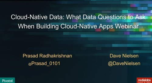 Cloud-Native Data: What data questions to ask when building cloud-native apps