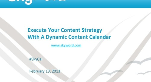 Content Strategy Webinar from Skyword