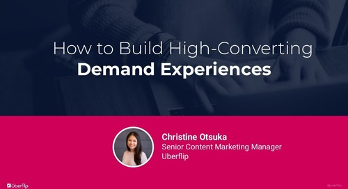 How to Build High Converting Demand Experiences