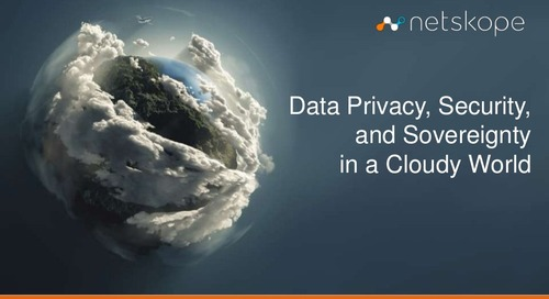 Data Privacy, Security, and Sovereignty in a Cloudy World