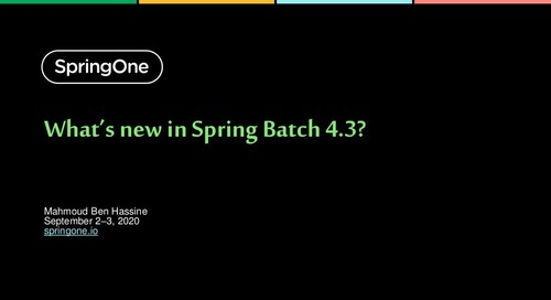 What's New in Spring Batch?