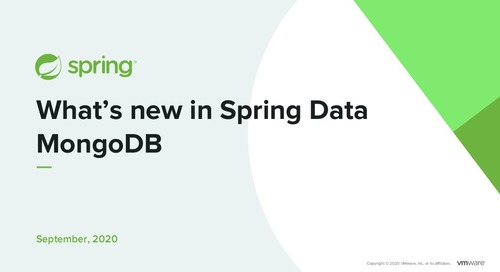 What's New in Spring Data MongoDB