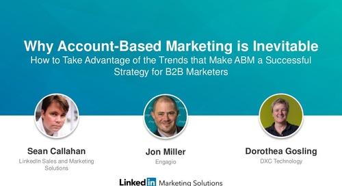 Why Account Based Marketing is Inevitable | Engagio