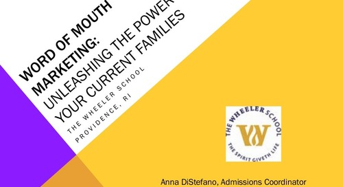 Word-of-Mouth Marketing: Unleashing the Power of Your Current Families