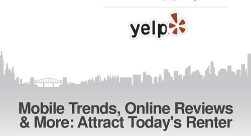 Mobile Trends, Online Reviews & More: Attract Today's Renter (Property Management Industry)
