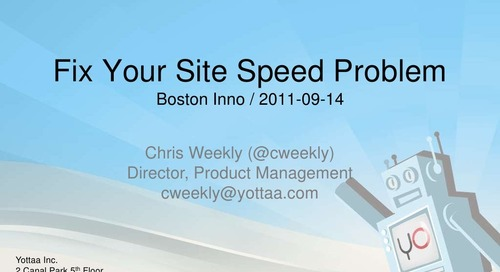 Yottaa site speed optimizer presentation at mass innovation nights part of future m sept 2015
