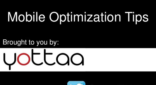 Mobile Optimization Tips from Yottaa - MEGMeetup #1