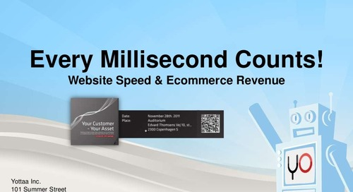Your customer your asset seminar ecommerce and website speed   yottaa