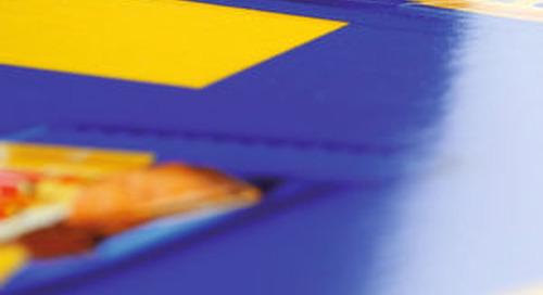 Glänzende Digitaldruckverpackung in Großauflage