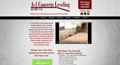 A-1 Concrete Leveling's New Website!