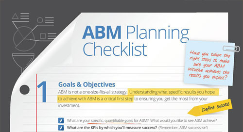 An ABM Planning Checklist