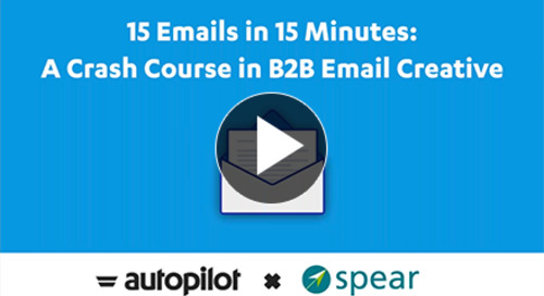 Webinar: 15 Emails in 15 Minutes: A Crash Course in B2B Email Creative