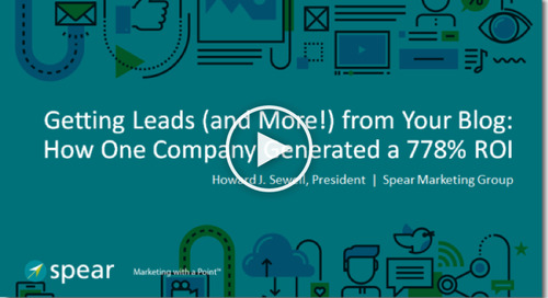 Getting Leads (and More!) from your Blog: How One Company Generated a 778% ROI