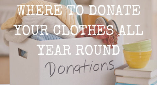 Where To Donate Your Clothes All Year Round