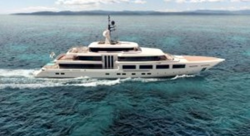 Turquoise 74-metre Barracuda in build