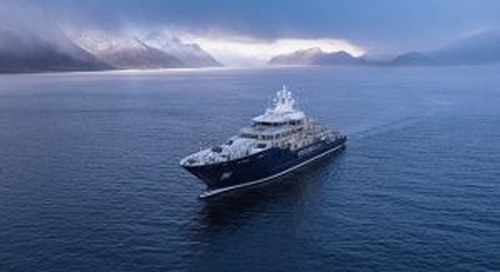 Kleven's new explorer U116 spotted on sea trials