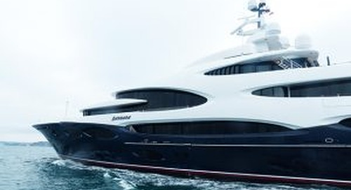 Exclusive pictures of 88.5m Oceanco Barbara on maiden voyage